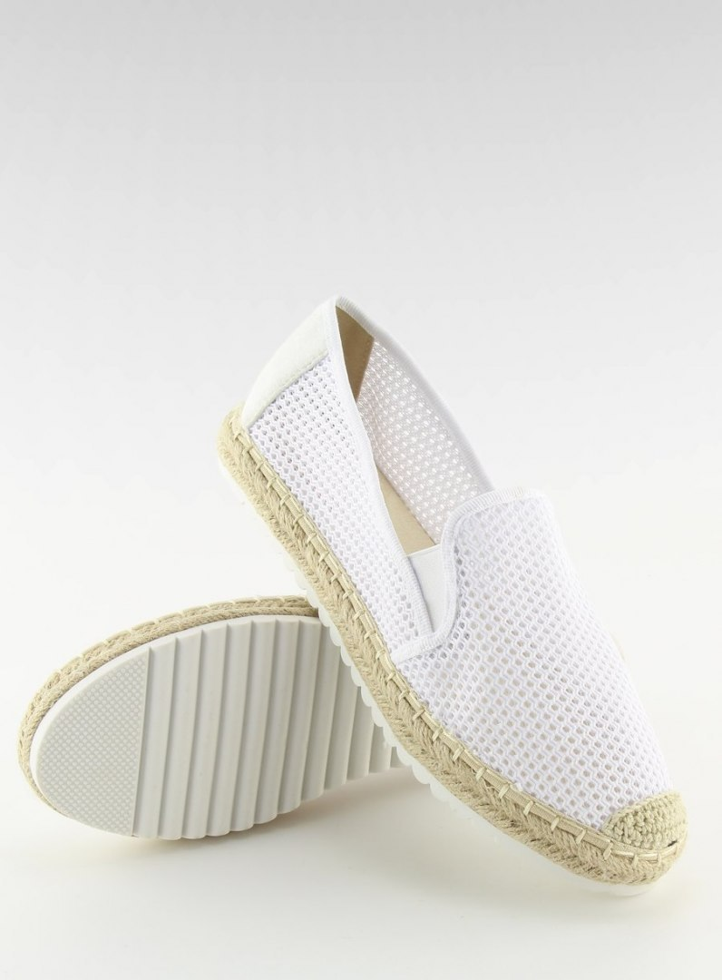 Slip-on espadryle białe BB03P WHITE