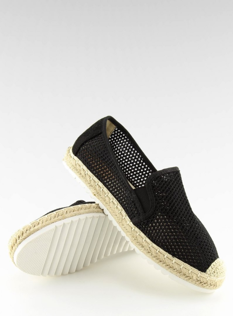 Slip-on espadryle czarne BB03P BLACK